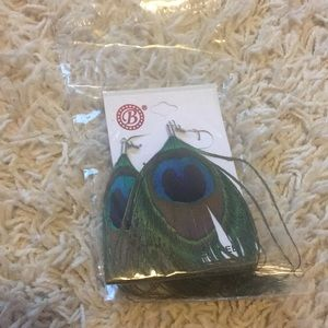 Jewelry - Brand new peacock earrings.